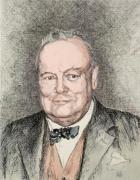 Mr W. S. Churchill (Restrike Etching)