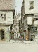Canterbury Mercery Lane (Restrike Etching)
