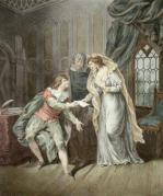 Lady Jane Grey's Last Missive (Restrike Etching) by G.R. Ryley
