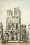 Rheims Cathedral (Restrike Etching) by Anonymous
