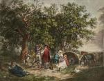 Gipsy's Tent (Restrike Etching) by George Morland