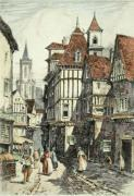 In Old Rouen (Restrike Etching) by Anonymous