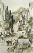Clovelly, The New Inn (Restrike Etching) by Anonymous
