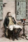 The Smoker (Restrike Etching) by Jean-Louis Ernest Meissonier