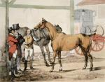 Post Horse (Restrike Etching) by Henry Alken