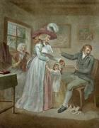 The Virtuous Parent (Restrike Etching) by George Morland