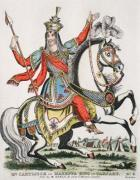 Mr Cartlitch as Tartary King (Restrike Etching) by Anonymous