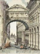 Bridge of Sighs (Restrike Etching) by Anonymous