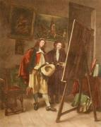 The Painter (Restrike Etching) by Jean-Louis Ernest Meissonier