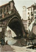 Rialto Bridge, Venice (Restrike Etching) by Anonymous