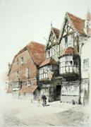 George Inn, Salisbury (Restrike Etching) by Anonymous