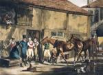 The Post Horse (Restrike Etching) by Henry Alken