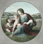 Virgin Infants Saviour (Restrike Etching) by Raphael