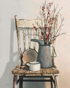 Watering Can on Chair by Cecile Baird