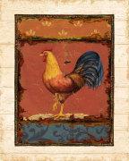 Rooster Portraits IV by Daphne Brissonnet
