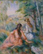 In the Meadow by Pierre Auguste Renoir