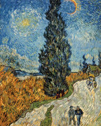 Country Road in Provence by Night, c. 1890 by Vincent Van Gogh