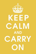 Keep Calm (mustard) by Anonymous