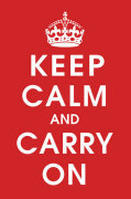 Keep Calm (Red) by Anonymous