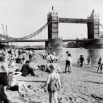 Londoners Relax on Tower Beach 1952