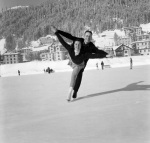 Ice skating couple, 1953 by Mirrorpix