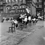 School gymnastics, Battersea 1952 (1) by Mirrorpix