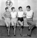 TV Toppers rehearse, 1953 by Mirrorpix