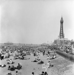 Bank Holiday on Blackpool Beach, 1960 by Mirrorpix