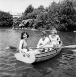 Butlins boating, Pwllheli 1960 by Mirrorpix