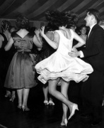 Dancing on Thames boat, 1960 by Mirrorpix