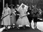 Fashion models, Bond Street 1955 by Mirrorpix