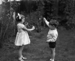 Children playing conkers, 1933 by Mirrorpix