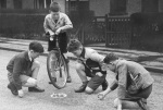 Playing marbles 1947