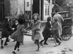 Dancing to a barrel organ London 1941