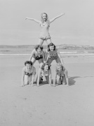 On the beach Newquay 1952