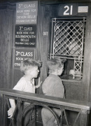 Charing Cross station ticket office, 1950 by Mirrorpix