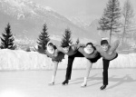 Skaters Winter Olympics 1956