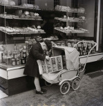 Outside the bakers Stratford upon Avon 1954