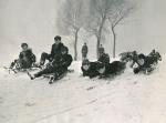 Children sledging 1955