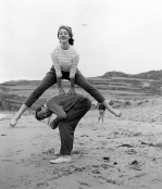 James Callaghan and his daughter, Pembrokeshire 1957 by Mirrorpix