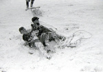 Children playing in the snow, Hampstead Heath 1945 by Mirrorpix