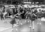 Hula-hooping, Lincolns Inn Fields 1958 by Mirrorpix