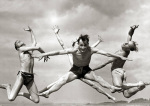 Jumping for joy on holiday, 1950 by Mirrorpix