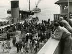 Paddle steamer at Dunoon Pier 1957