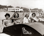 Girls in pedalo, Weston-super-Mare 1959 by Mirrorpix