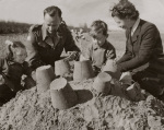Building sandcastles, 1946 by Mirrorpix