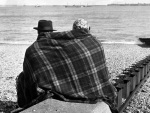Chilly beach Dover 1954