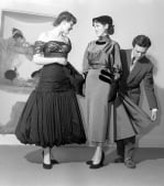 Models in evening dress, 1950s by Mirrorpix