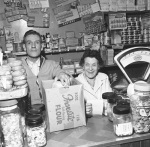 Grocers shop, 1955 by Mirrorpix
