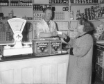 Grocers shop, Birmingham 1956 by Mirrorpix
